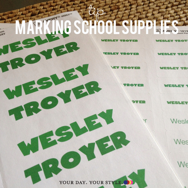 Label school supplies by printing your own avery labels