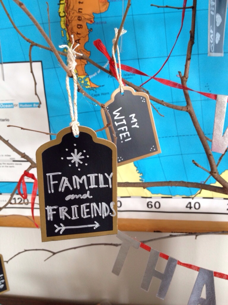 thankful tree with Target tags