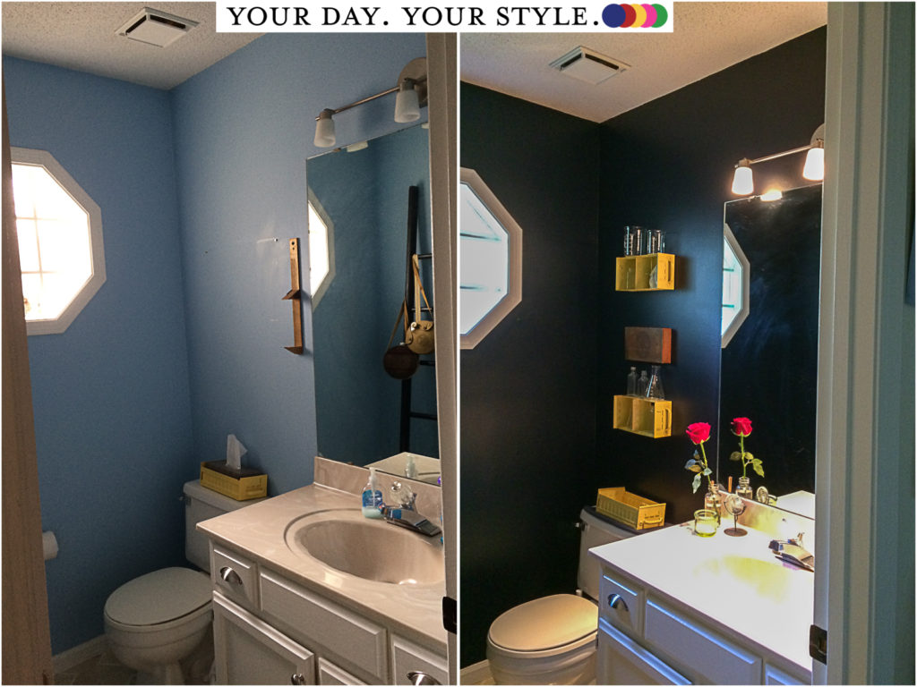 Powder Room Update from Your Day. Your Style.