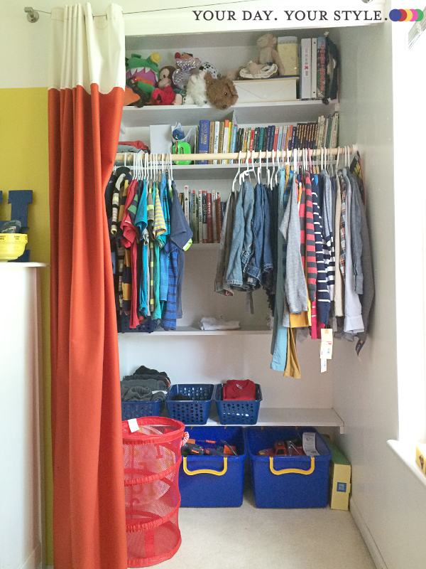 Preteen Bedroom Closet Organizing