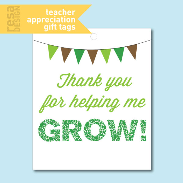 TeacherAppreciation Tags for Flower Gifts