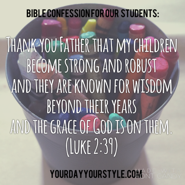 Praying for our kids: Back to School