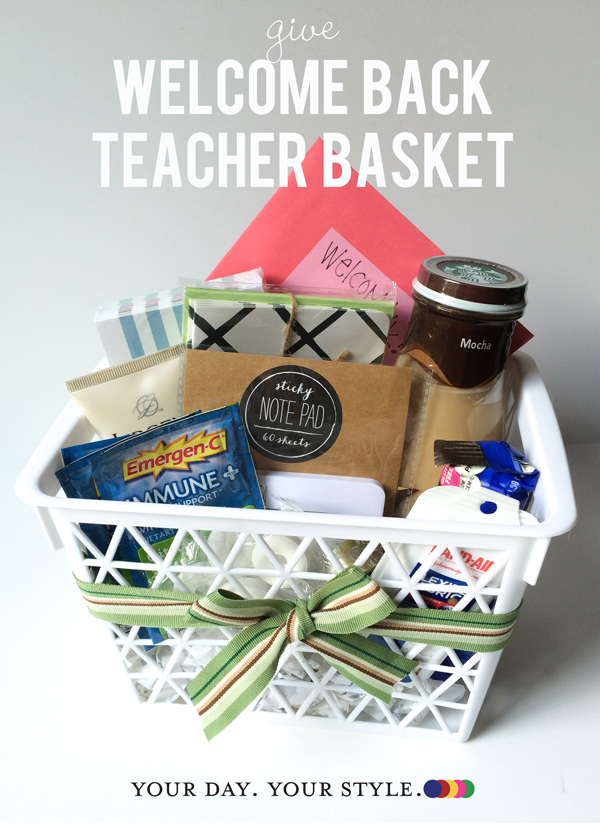 Teacher Gift - Back to School by Your Day. Your Style..