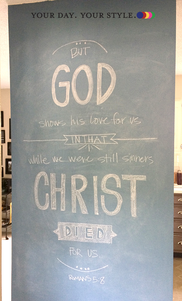 Scripture Chalk wall art from Your Day. Your Style.com