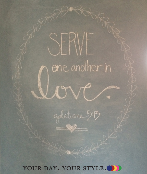 Scripture chalk wall art by Your Day. Your Style.
