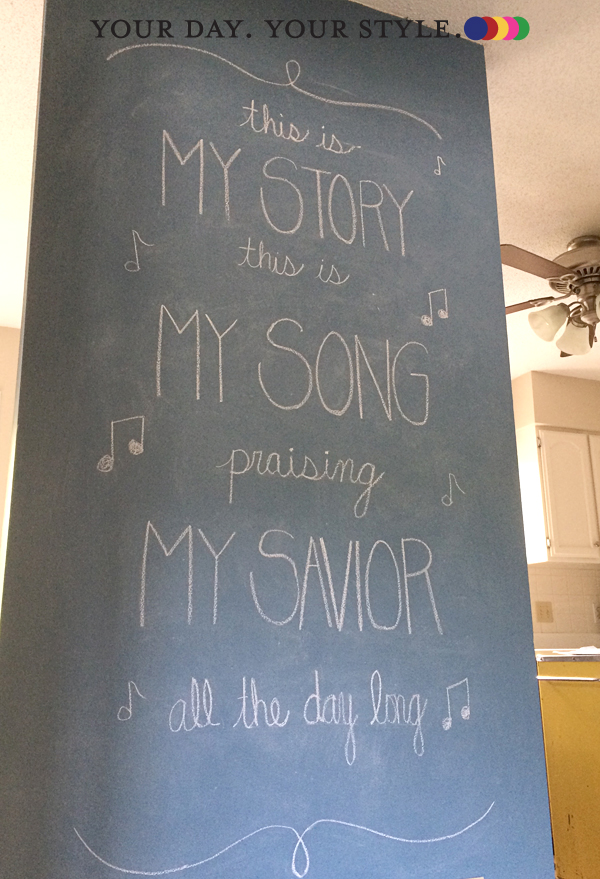 Song lyric chalk wall art by Your Day. Your Style.
