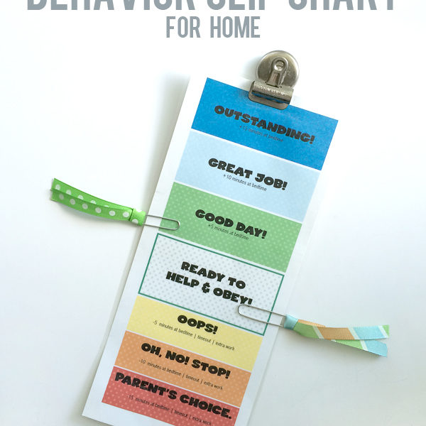Behavior Chart for Home