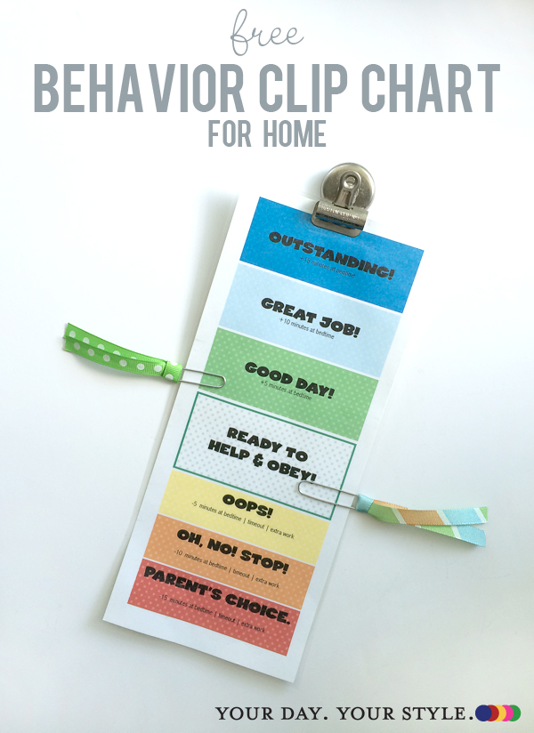 Free Printable ChildrenS Behavior Clip Chart For Home