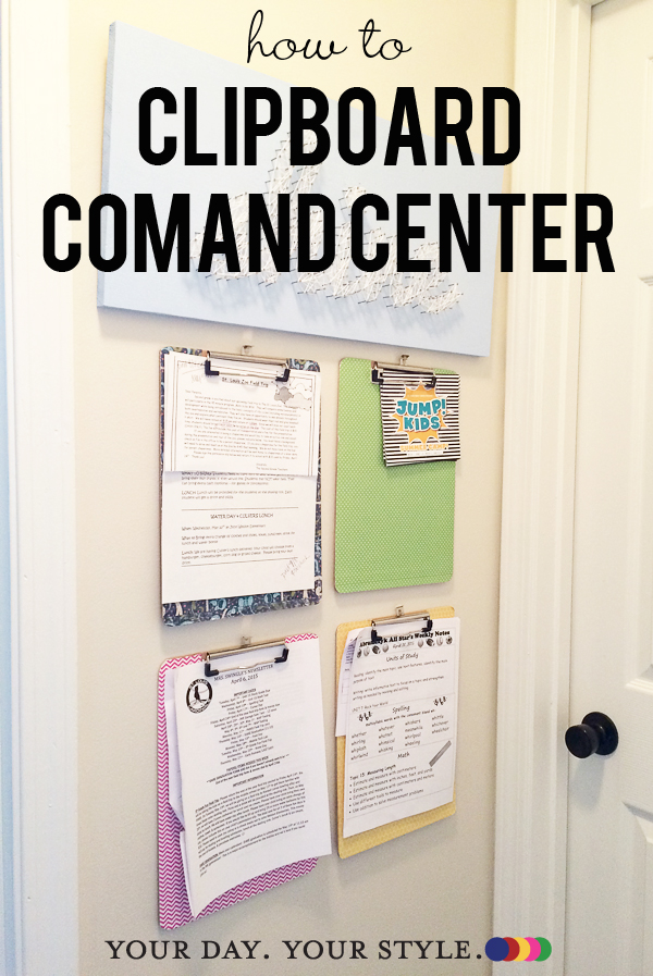 Clipboard Command Center from Your Day. Your Style.com
