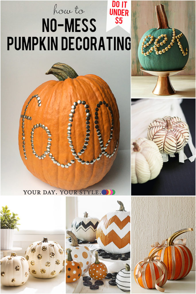 No Carve Pumpkin Decoration Ideas