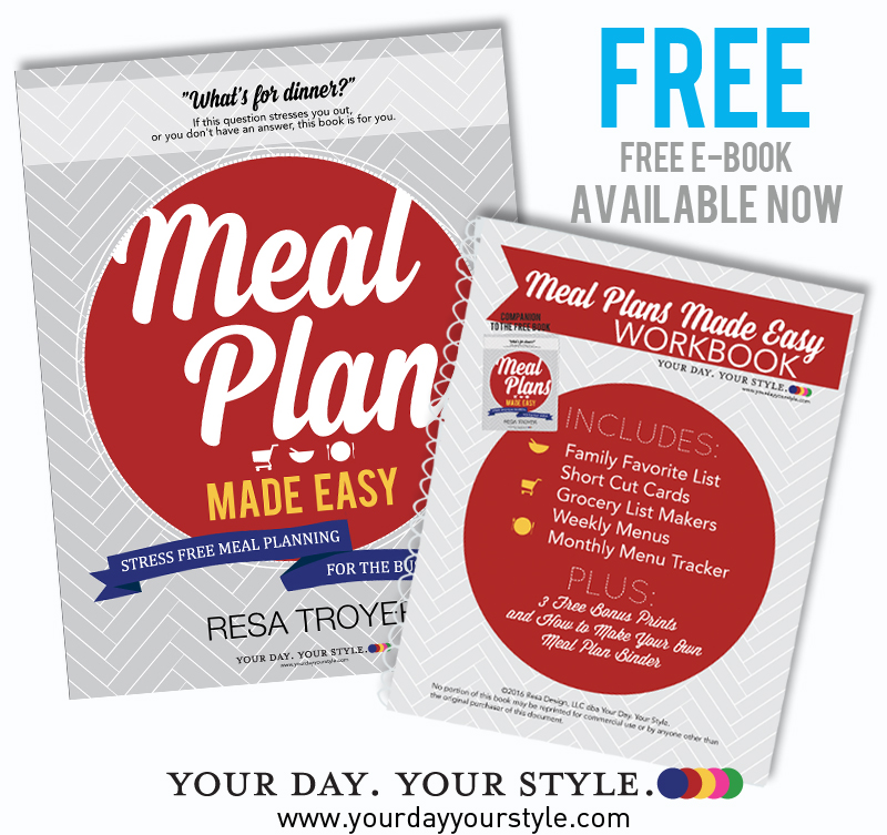 FREE Meal Planning Book by Resa Troyer