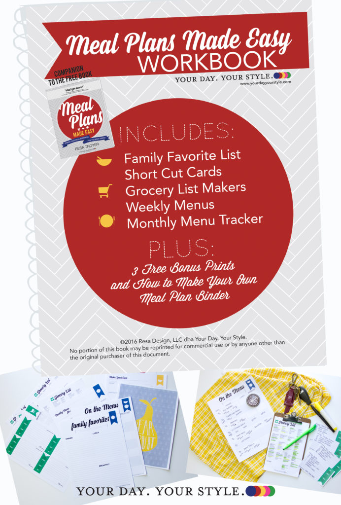 Meal Planning Print Pages by Your Day. Your Style.
