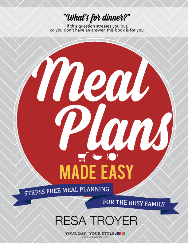 FREE Meal Planning Book Cover by Your Day Your Style.com