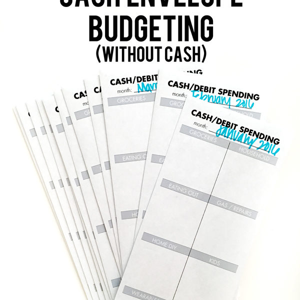 How to cash envelope budget without cash.