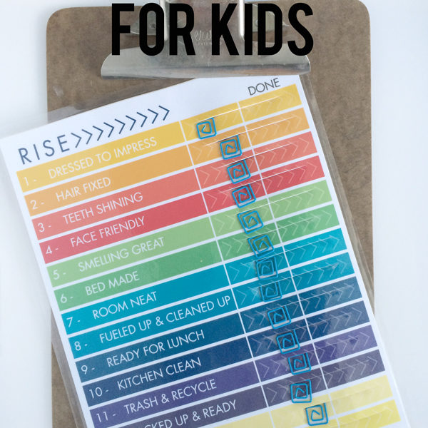 Check List for kids daily routine by Your Day. Your Style.com ©2016