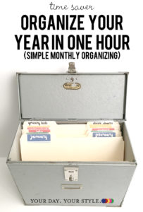 How to organize your year month by month.
