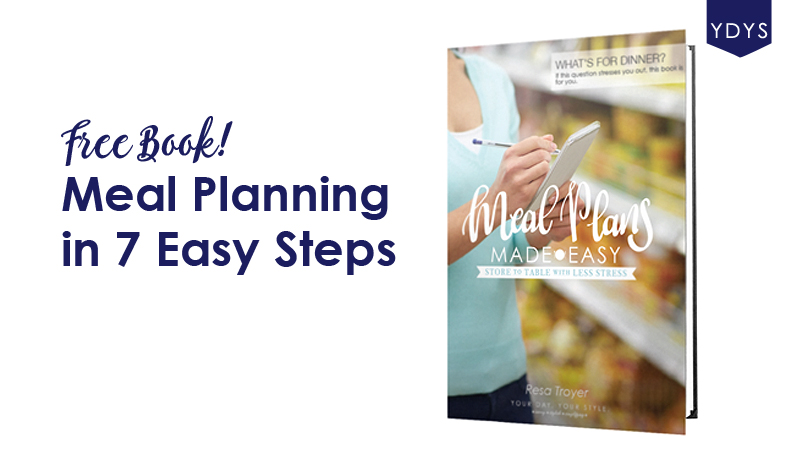 Free meal planning guide including images of how to write out each step and tips to make your whole experience easier.