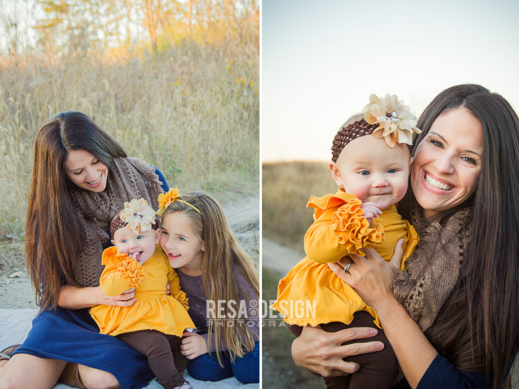 Tip 3- Mom's feel great in what you are wearing in your family photos. Images by Resa Design, LLC