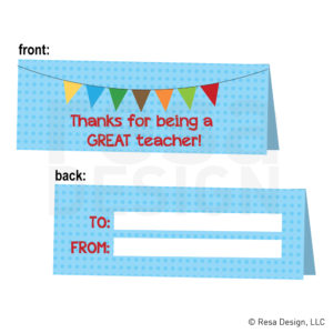 Teacher Appreciation Snack Bag Topper