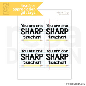 Teacher appreciation printables teacher appreciation classroom gift printable teacher appreciation printable gift tag negle