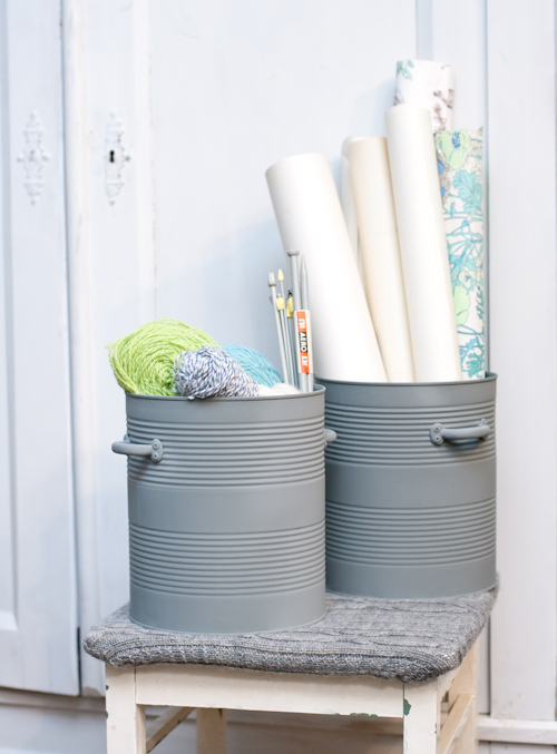 15 ways to organize with tin cans - bulk size tin cans for large item storage