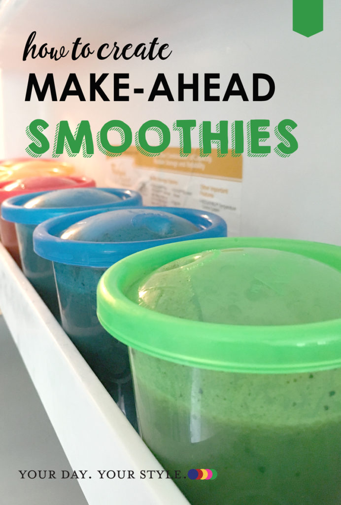 Simple steps to made and freeze smoothies for easier morning routines.
