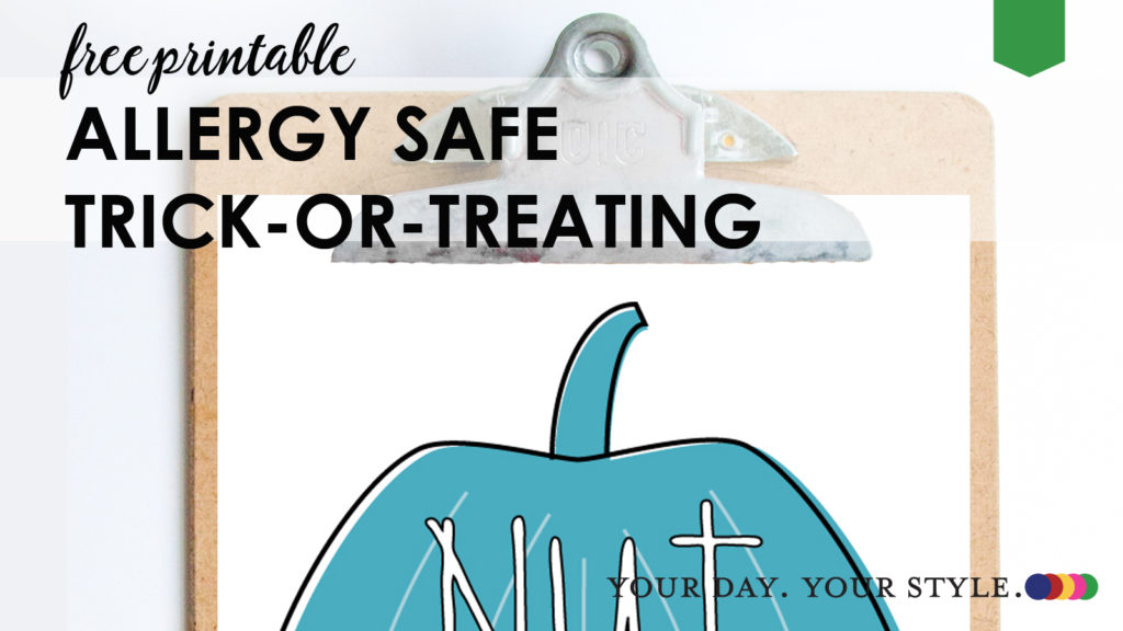 Allergy Safe Trick-or-Treating Free Print