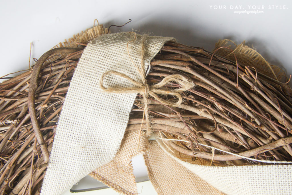 How to Make a Burlap Wreath from Your Day Your Style
