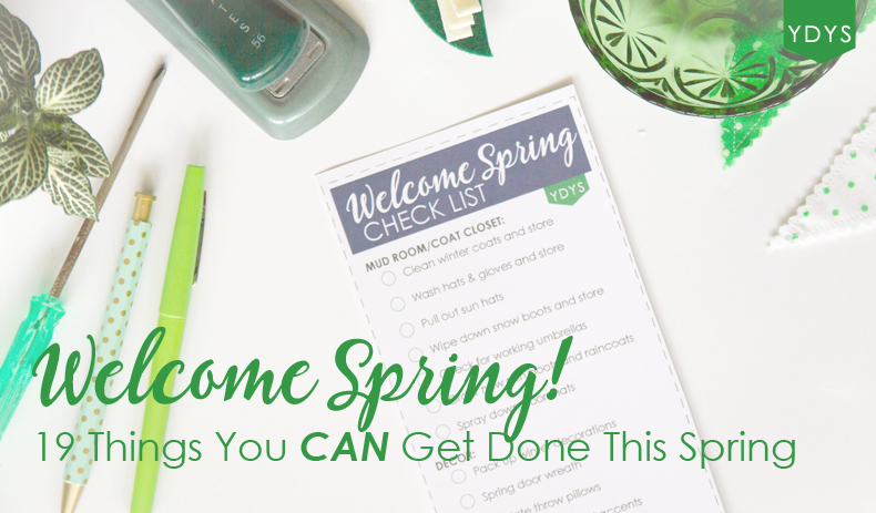 Spring To Do List for the cleaning, fashion and home decor by Your Day. Your Style.