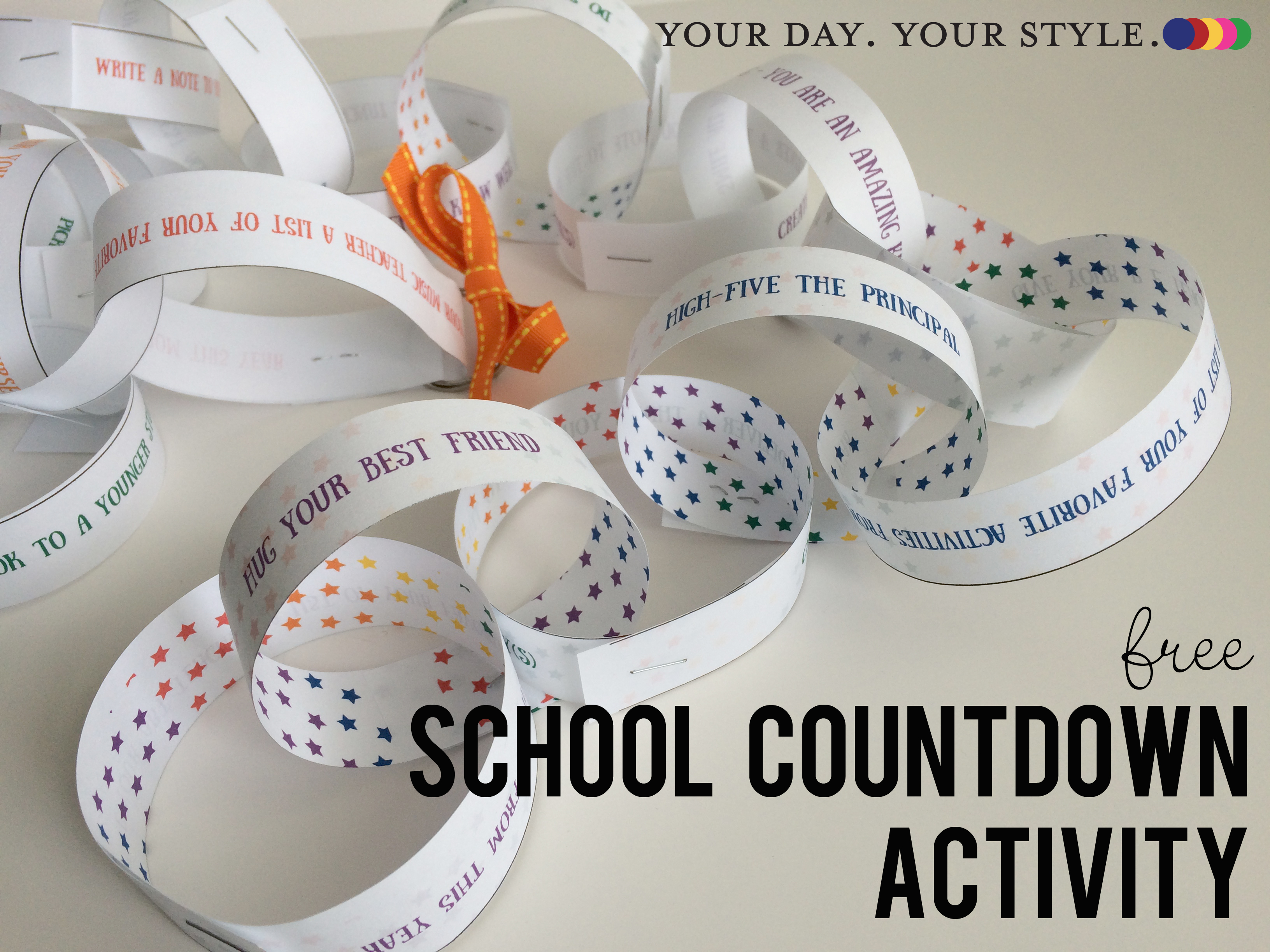 Countdown the end of School Year Paper Chain Printable