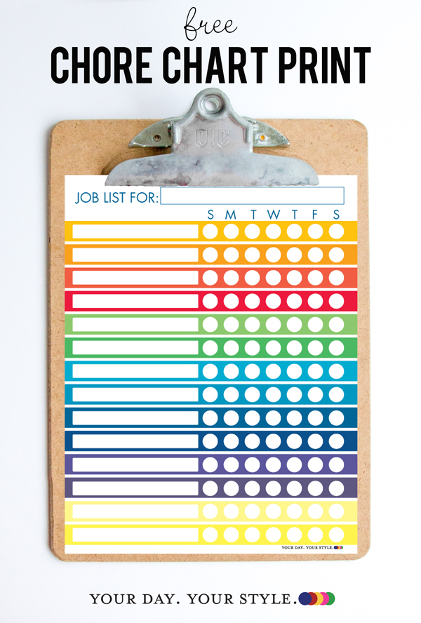 photo about Printable Job Chart known as Cost-free Printable Chore Chart for Children and Chores by way of Age Chart