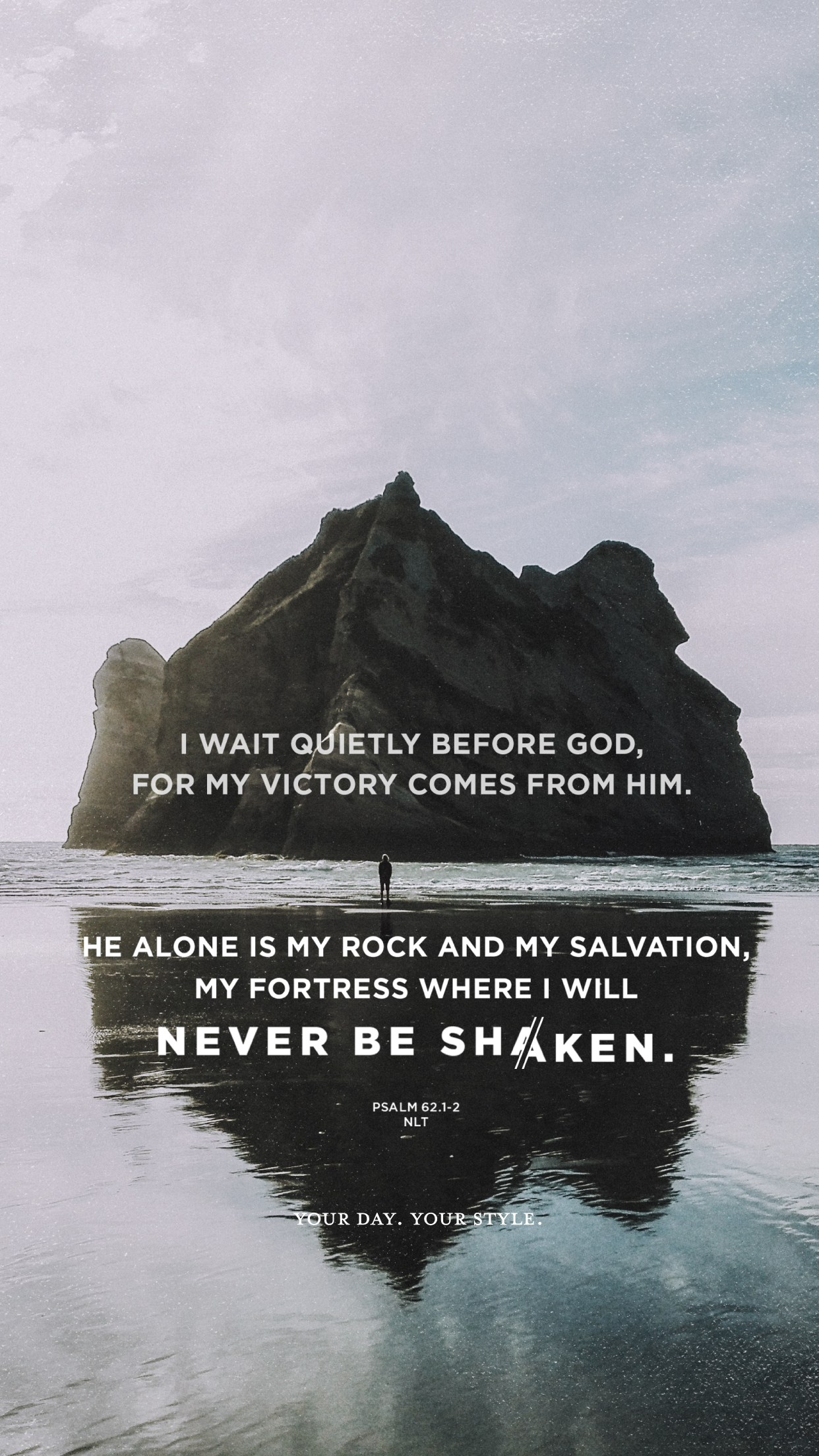 free screen wallpaper and printable art of psalm 62 for
