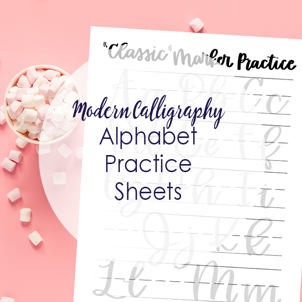 Impeccable image with modern calligraphy practice sheets printable free